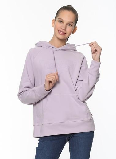 Levi's® Kadın Sweatshirt Graphic Sport Hoodie 35946-0206 Mavi